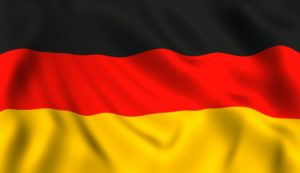 German flag waving symbol of Germany