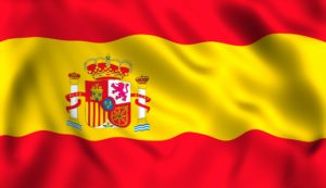 Spanish flag waving symbol of spain